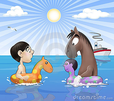 Free Seaside Funny Meeting Royalty Free Stock Photo - 10893215