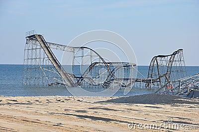 Seaside Heights NJ Post-Hurricane Sandy Editorial Photography