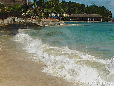 Seaside hotel & lagoon waves .