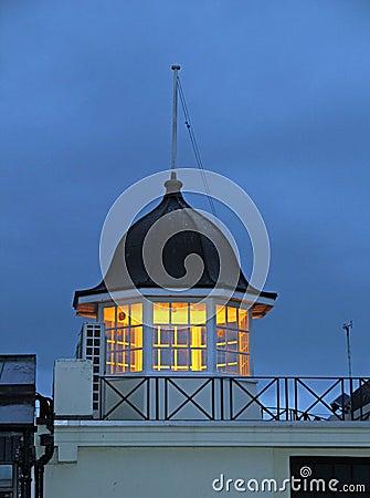 Seaside lookout beacon tower