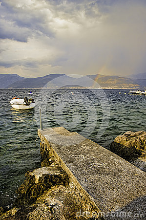 Seaside of Montenegro, Adriatic sea