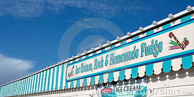 Seaside Pier Ice Cream and Candy  Editorial Photography