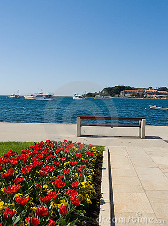 Seaside promenade - Porec, Croatia