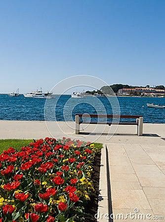 Seaside promenade - Porec, Croatia