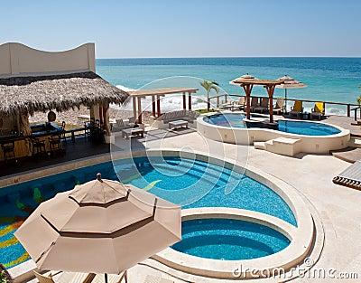 Seaside resort swimming pools
