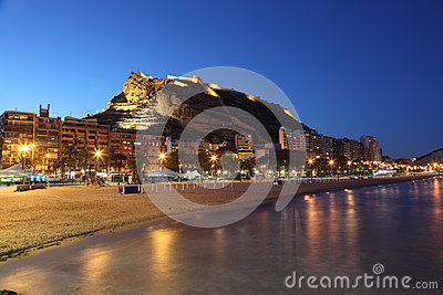 Seaside view of Alicante, Spain