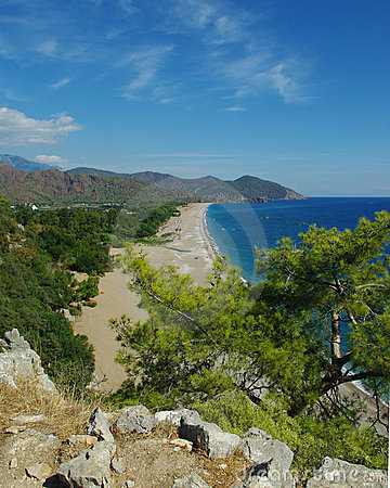 Seaside view in ancient Olympos