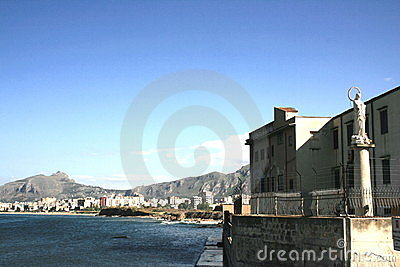Seaside view of Palermo