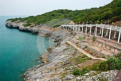 Seaside view at srichang island