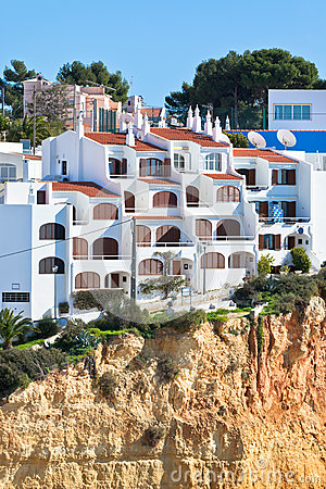 Seaside village on a cliff in Portugal