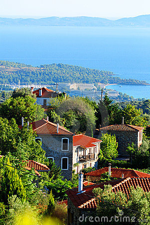 Free Seaside Village In Greece Royalty Free Stock Images - 3033339
