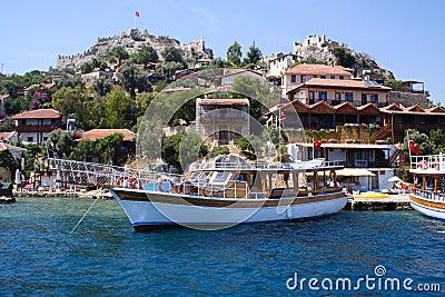 Seaside village on the rocky coast