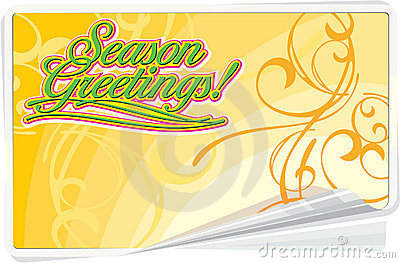 Season Greetings floral card
