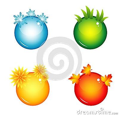 Free Season Interface Buttons Stock Photo - 43979470