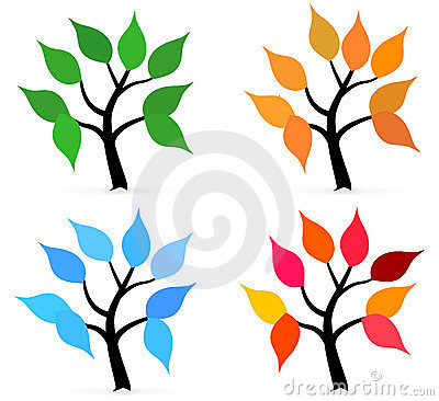 Season tree with leafs