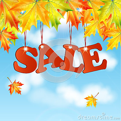 Seasonal autumn sale