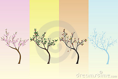 Seasonal background with trees
