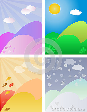 Seasonal backgrounds set