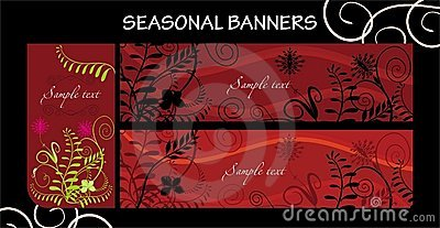 Seasonal banners