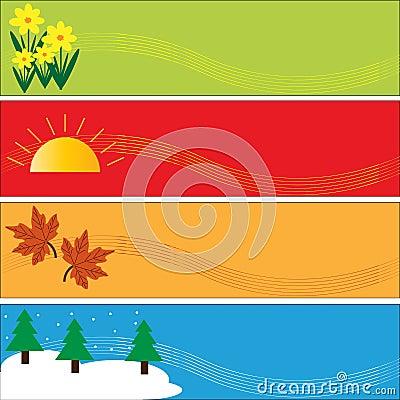 Seasonal Banners Set