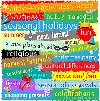 Seasonal Holiday Word Cloud