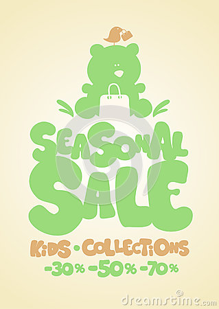 Seasonal sale design template.