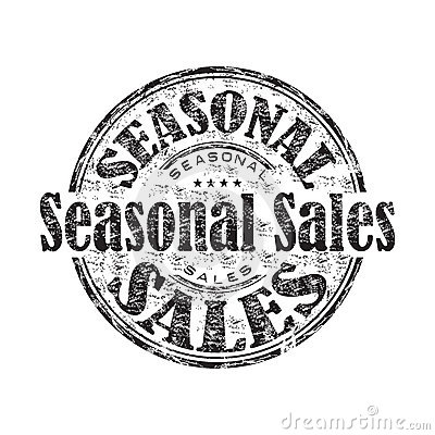 Seasonal sales rubber stamp