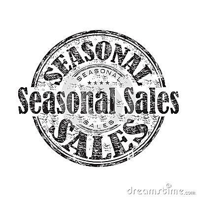 Seasonal sales rubber stamp