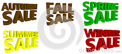 Seasonal Sales Signs
