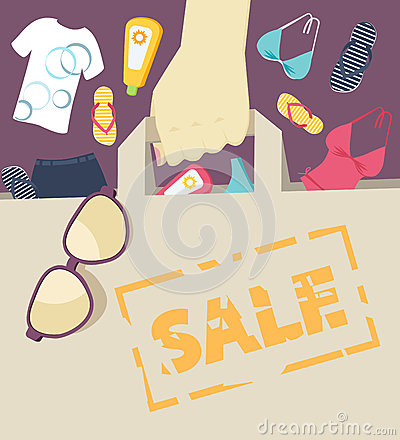 Seasonal Summer Sale Stock Vector - Image: 42218892