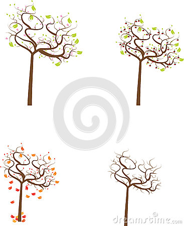 Seasonal trees set