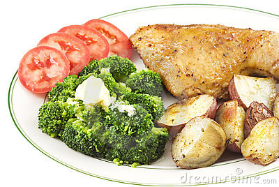 Seasoned Baked Chicken with vegetables