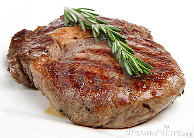 Seasoned Rib-Eye Beef Steak
