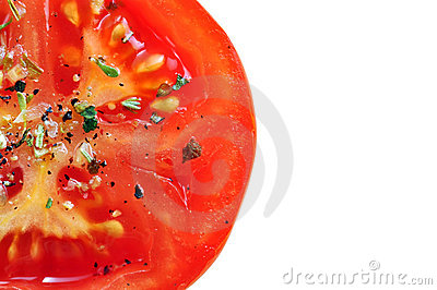 Seasoned tomato slice