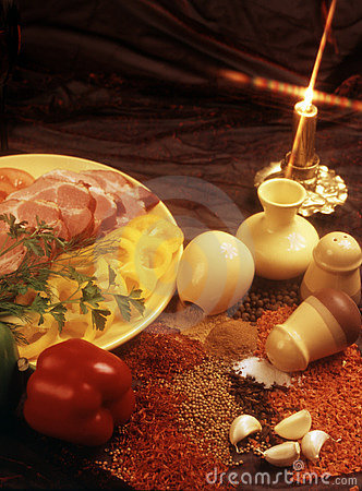 Seasonings for preparation of meat dishes