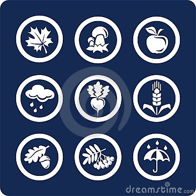 Seasons: Autumn icons (set 4, part 1)