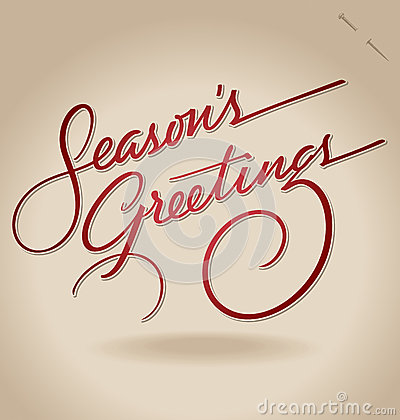 Free Seasons Greetings Hand Lettering (vector) Royalty Free Stock Photos - 26541368