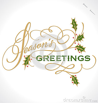 Free SEASONS GREETINGS Hand Lettering (vector) Stock Photos - 27875963