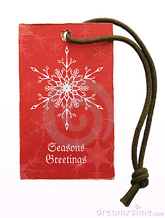 Seasons greetings tag