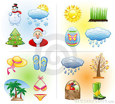 Free Seasons Icon Set. Stock Photos - 15663293