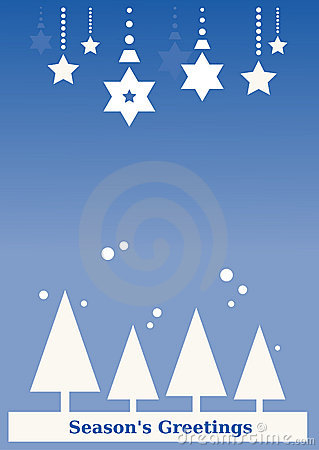 Seasons s Greeting Background (blue)