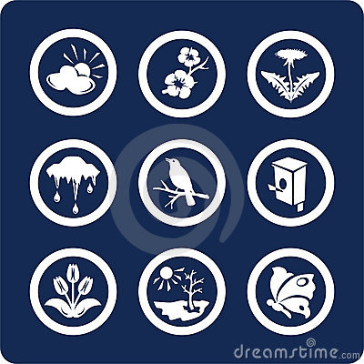 Seasons: Spring icons (set 3, part 2)