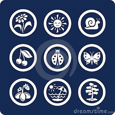 Seasons: Summer icons (set 4, part 2)