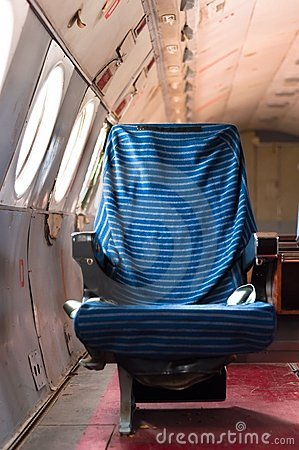 Seat of an old airplane
