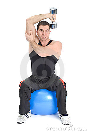 Seated Dumbbell One Arm Triceps Extensions
