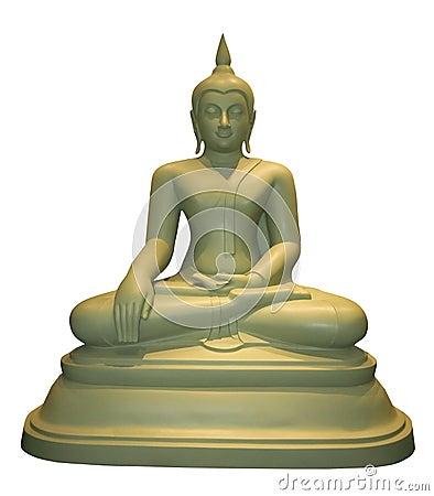Free Seated Thai Buddha Statue White Background Royalty Free Stock Photo - 30136195