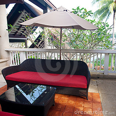 Seating area in the tropics