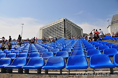 Seating for Formula One, Singapore Editorial Stock Photo
