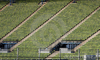 Seating in Munich Olympic stadium Editorial Image