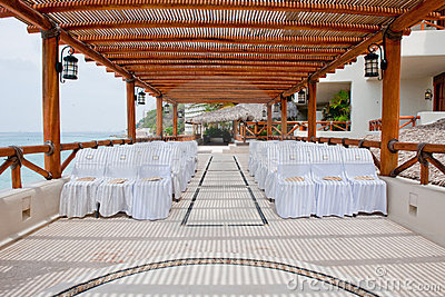 Seating at resort wedding
